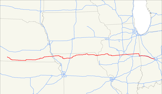 U.S. Route 136 - Image: US 136 map