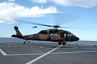US Navy 050623-N-2468S-007 An Australian Army S70A-9 Black Hawk helicopter lands on the flight deck aboard USS Blue Ridge (LCC 19).jpg