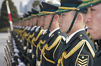 US Navy 060116-N-9851B-002 Members of Japan's Ground Self Defense Force Special Honor Guard stand in formation.jpg