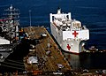 US Navy 071015-N-6278K-482 Military Sealift Command (MSC) hospital ship USNS Comfort (T-AH 20) arrives at Naval Station Norfolk after a four-month humanitarian deployment to 12 countries in Latin America and the Caribbean.jpg