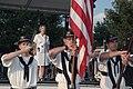 US Navy 090915-N-7975R-003 Musician 1st Class Shana Leigh Sullivan sings the National Anthem at the York Fair as part of York Navy Week.jpg
