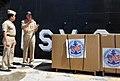 US Navy 110218-N-WX845-007 Cmdr. Mark Becker, right, speaks with Contralmirante Juan Antonio Calderon Gonzales.jpg