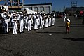 US Navy 110615-N-CI293-483 A child at the Sturgis on the River Motorcycle Rally leads the U.S. Navy Band Great Lakes, Ceremonial Band.jpg