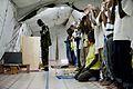 US Navy 110908-F-UI176-030 Kenyan army Maj. Iman Rajab Athumani, a Muslim chaplain, leads spiritual worship at the prayer tent at Camp Lemonnier.jpg