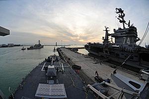 US Navy 120130-N-ED900-075 Sailors prepare the ship to get underway.jpg