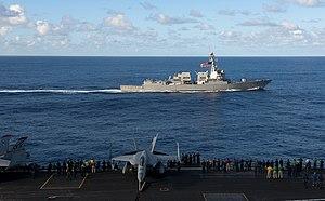 US Navy 120212-N-OY799-241 USS Kidd is underway with USS John C. Stennis.jpg