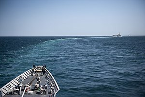 US Navy 120214-N-VY256-094 The Nimitz-class aircraft carrier USS Abraham Lincoln (CVN 72) and the Arleigh Burke-class guided-missile destroyer USS.jpg