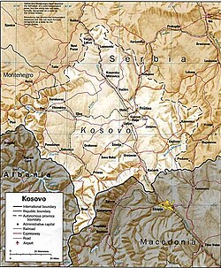 Kosova siyasi haritası