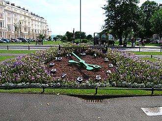 Hove - Floral Clock, Palmeira Square