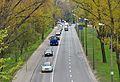 Ulica Wybrzeże Helskie w Warszawie widok z wiaduktu mostu Śląsko-Dąbrowskiego.jpg