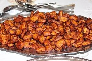 Fried plantain - Image: Un plat d'alloco Fried Plantains