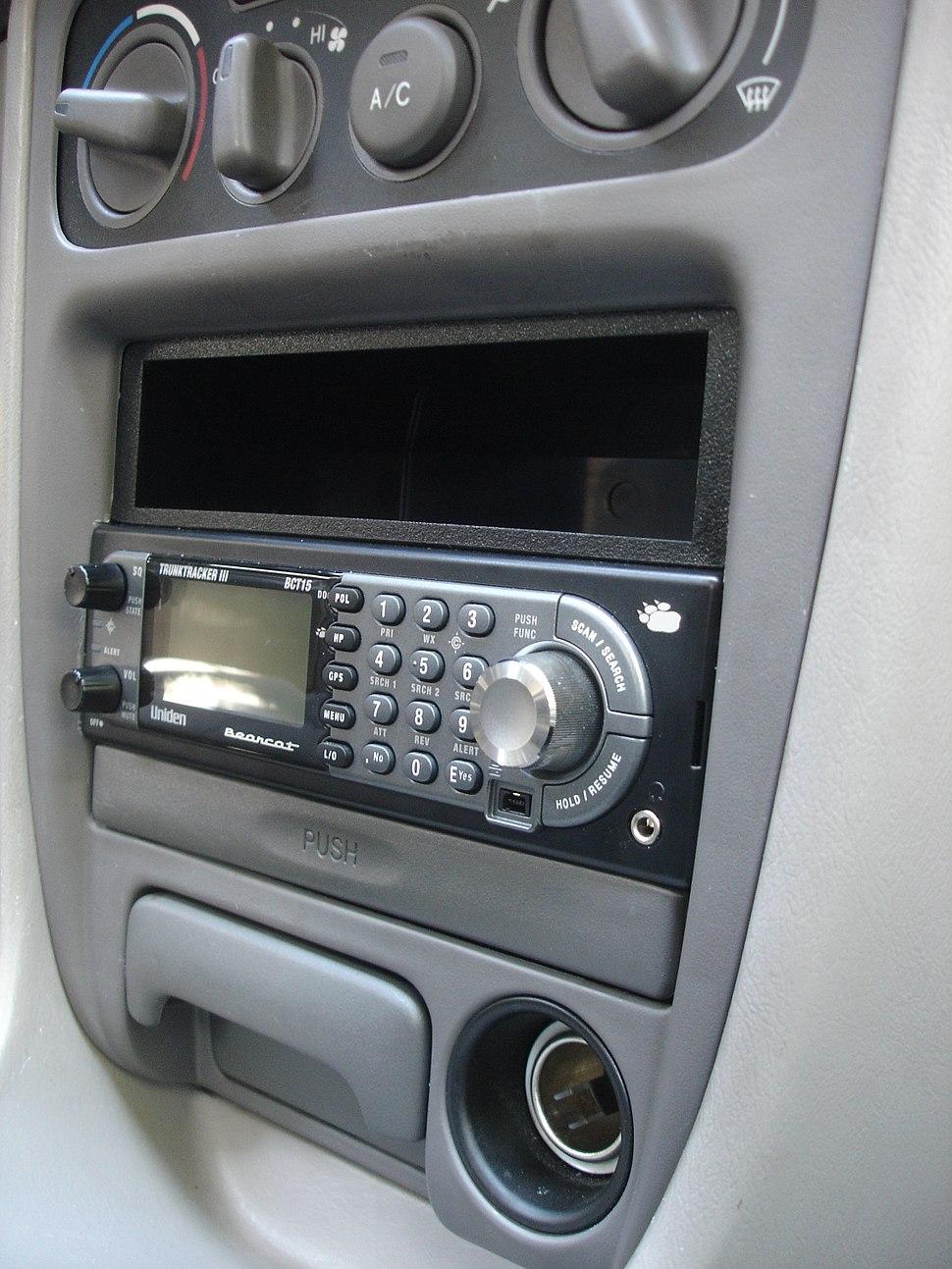 Uniden BCT-15 installed in vehicle dash.jpeg