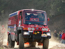 Unimog U400L n.541 on second stage of the rally-raid Lisbon-Dakar 2006