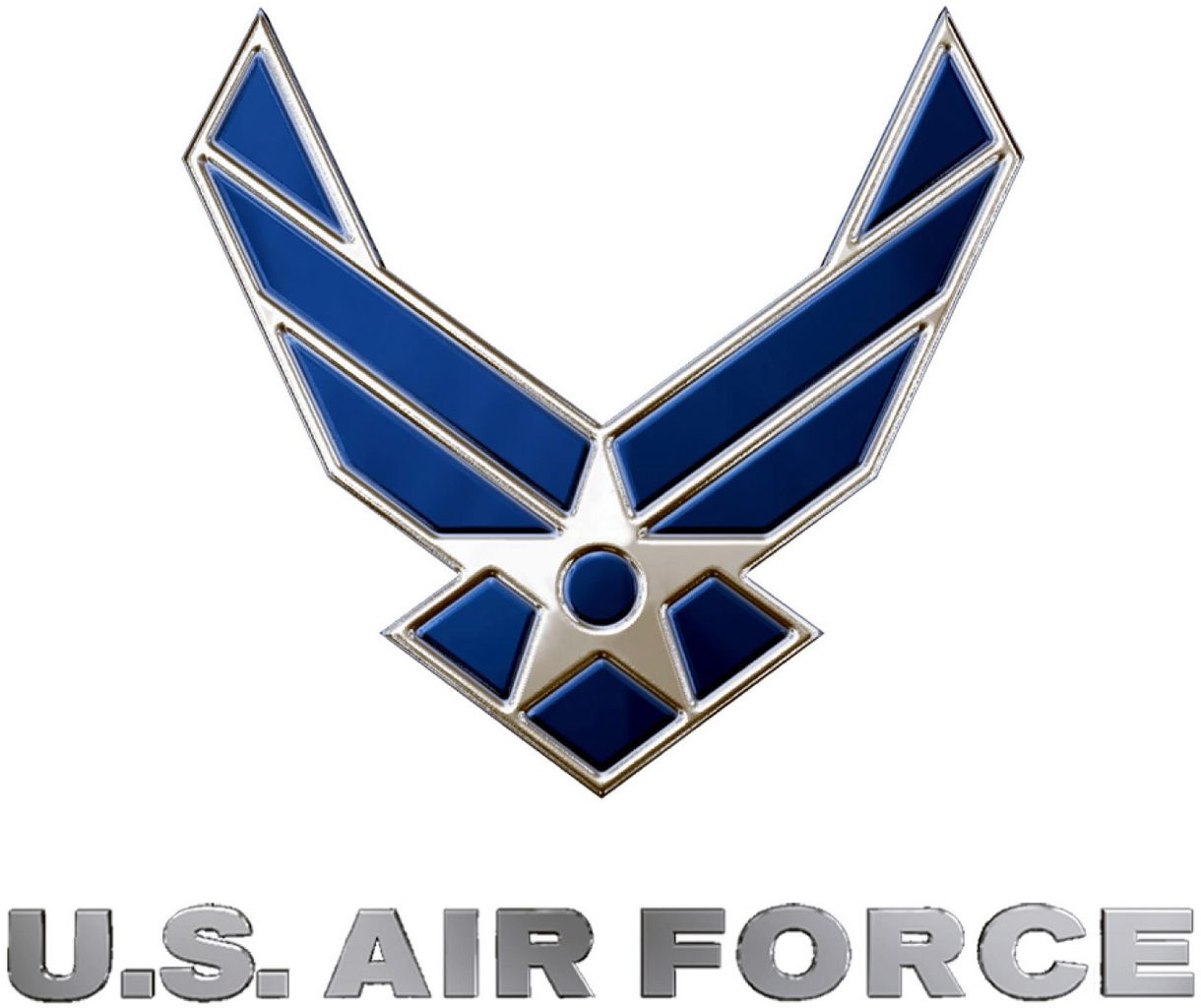 File United States Air Force Logo Blue And Silver Jpg