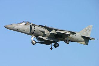McDonnell Douglas AV-8B Harrier II - A USMC AV-8B hovering