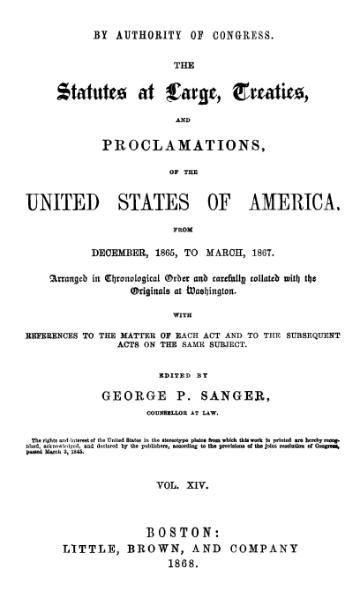 File:United States Statutes at Large Volume 14.djvu