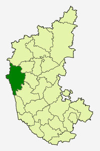 उत्तर कन्नड का स्थान कर्नाटक में