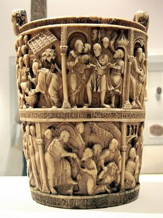Situla - The Basilewsky Situla, 920, Ottonian, in ivory
