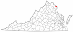 State map highlighting Falls Church
