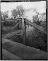 VIEW LOOKING SOUTHWEST TOWARD WEST WEB - Big Goose Creek Bridge, County Road 5, Sheridan, Sheridan County, WY HAER WYO,17-SHER.V,1-3.tif