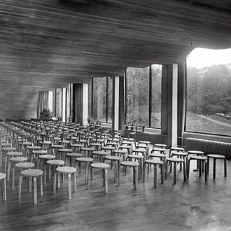 Alvar Aalto - Auditorium of the Viipuri Municipal Library in the 1930s.