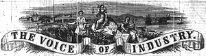 Voice of Industry - The masthead for the Voice of Industry, starting from January 1847