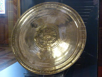 """Sevso Treasure - The """"Hunting plate"""" in the Hungarian Parliament Building"""