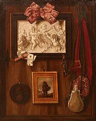 Trompe-l'œil à la médaille d'Anne de Bretagne