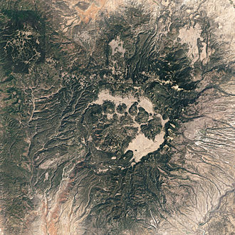 Valles Caldera - Satellite image of Valles Caldera.