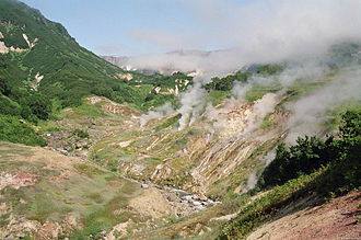 Valley of Geysers - The Valley of Geysers as of September 2006, before the mudflow