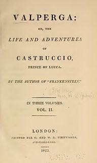 <i>Valperga</i> (novel) 1823 novel by Mary Shelley