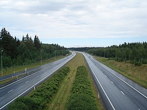 European route E12 - E 12 in Parola, Finland