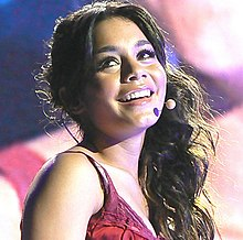 Vanessa Hudgens performing at the High School Musical: The Concert tour