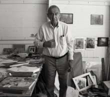 Varujan Boghosian, photographed at his studio in Hanover, NH by Elyse Harary on September 27, 2015.tif