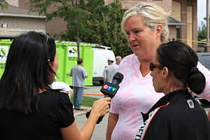 Southern Ontario Tornado Outbreak of 2009 - Vaughan Mayor Linda D. Jackson speaks to a CTV reporter about the tornadoes.
