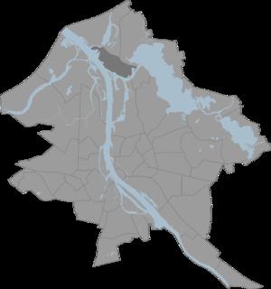 Vecmīlgrāvis - Image: Vecmilgravis karte