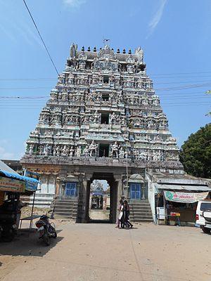 Vedaranyeswarar temple - Image of the Vedaranyam temple gopuram