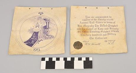 Veiled prophet ball wikipedia ball invitation 1913 with photographic marker at the bottom stopboris Gallery
