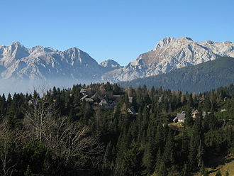 Kamnik–Savinja Alps - View of the Kamnik Alps from the Big Pasture Plateau