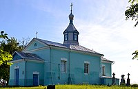 Velykyi Okorsk Lokachynskyi Volynska-Saint Michael church-south-west view.jpg