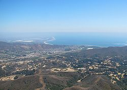 Ventura, California, viewed from the northwest (Oil fields in foreground)