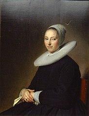 Portrait d'une jeune femme assise