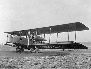 Vickers Virginia heavy bomber