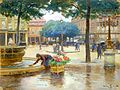 Victor Gabriel Gilbert - Place du Palais Royal, Rainy Day.jpg