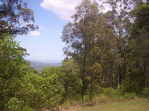 Camp Mountain, Queensland - View of Brisbane city from Camp Mountain