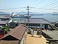 View from Kengyu Shrine in Ebisu Shrine (torii of Ebisu Shrine and Oshima Port).JPG