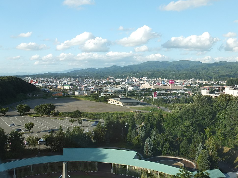 View of Yokote City from Akita Museum of Modern Art