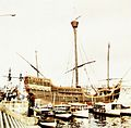 View of a replica of the Santa Maria at Barcelona, (Spain) in October 1964.jpg