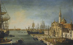 Michele Marieschi - View of the Bacino Di San Marco from the Church and Island of San Giorgio Maggiore