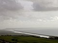View of the Fleet, Chesil Beach and the Isle of Portland from Abbotsbury Castle - geograph.org.uk - 25112.jpg